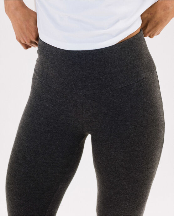 "Women's 25.5"" Legging Charcoal Heather Large CHARCOAL HEATHER"