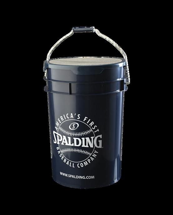 6 Gallon Spalding Baseball Bucket With Padded Lid