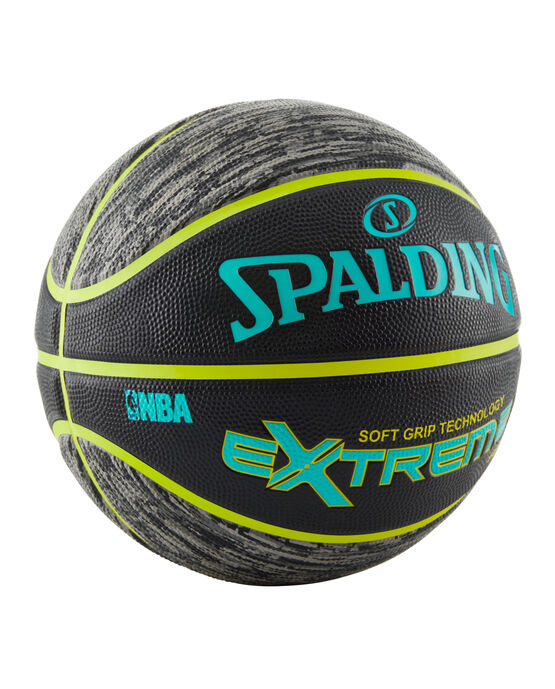 """NBA Extreme Pattern Series Black and Green Outdoor Basketball - 29.5"""""""