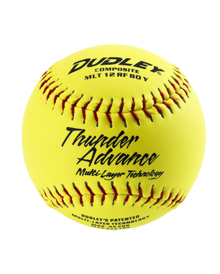 NON-ASSOCIATION THUNDER ADVANCE® SLOWPITCH SOFTBALL - 12 PACK