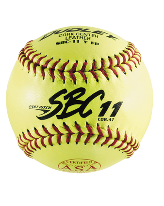 "11"" ASA SBC 11 FASTPITCH SOFTBALL - 12 PACK"