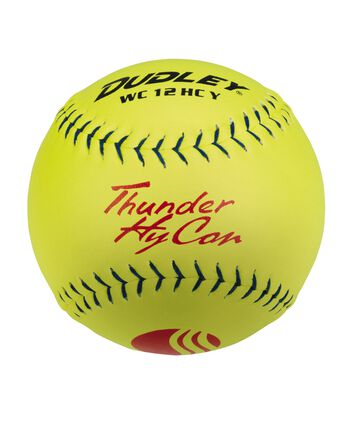 "12"" USSSA THUNDER HYCON CLASSIC-PLUS STAMP SLOWPITCH SOFTBALL - 12 PACK"