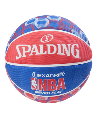 NEVERFLAT® HEXAGRIP BASKETBALL Red/White/Blue