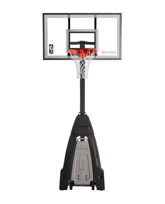 "The Beast® 60"" Glass Portable Basketball Hoop System Gray"