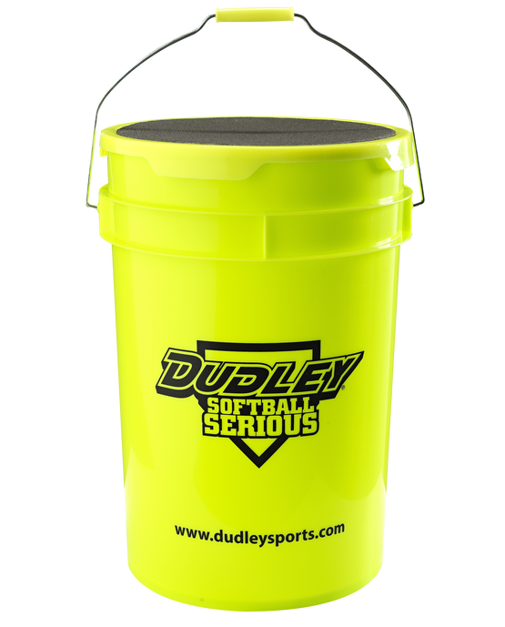 6-GALLON DUDLEY SOFTBALL BUCKET WITH PADDED LID
