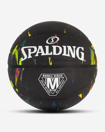 Marble Series Black Multi-Color Outdoor Basketball