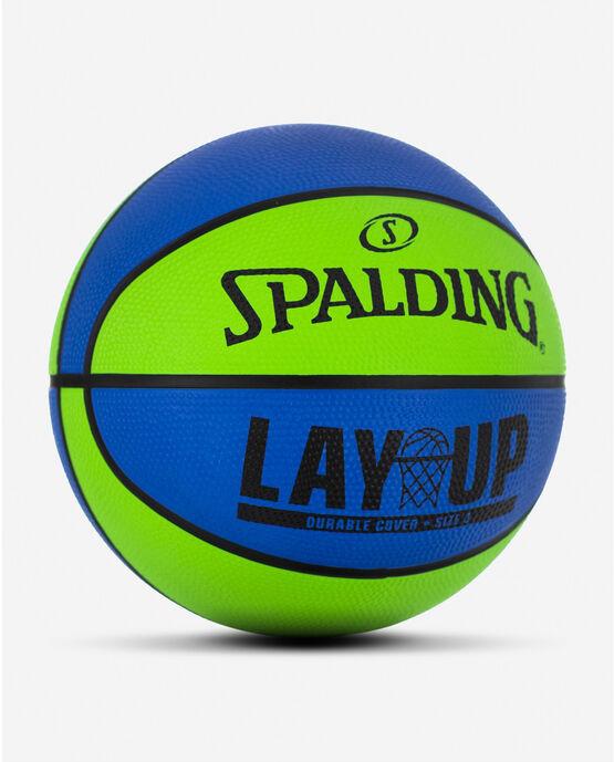"Layup Mini Blue/Green Rubber Outdoor Basketball 22"" Blue/Green"
