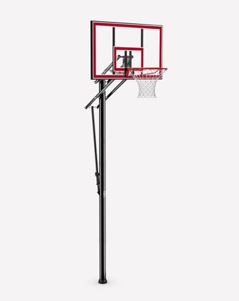 Shatter-Proof Polycarbonate Pro Glide® In-Ground Basketball Hoop