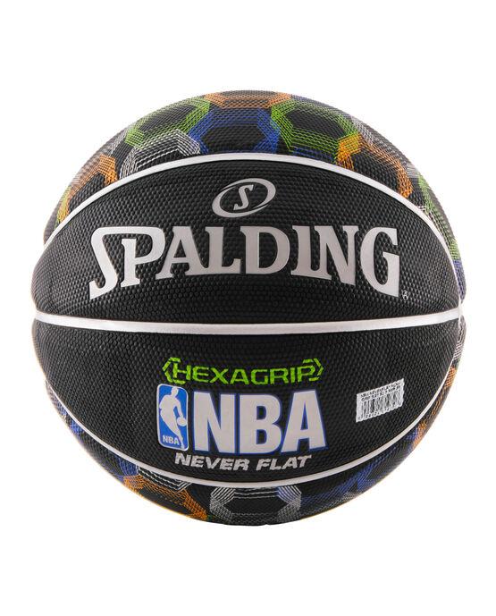 NBA Neverflat® Hexagrip™ Black Basketball With Graphic black