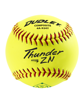 ASA THUNDER HYCON SLOWPITCH SOFTBALL - 12 PACK