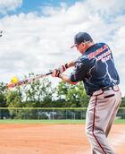 Lightning Legend Lift 27 ounce Senior Softball Bat - White/Orange