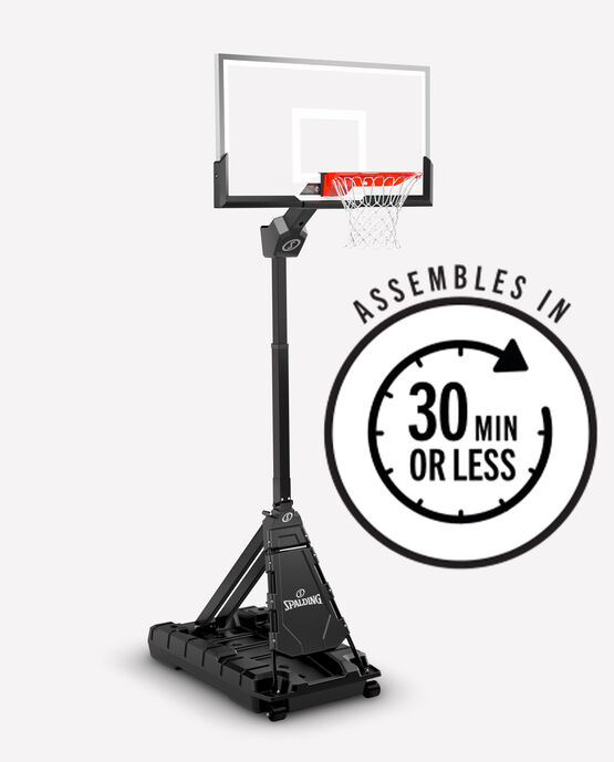 """Momentous™ EZ Assembly™ 54"""" Clear View Acrylic Portable Basketball Hoop"""