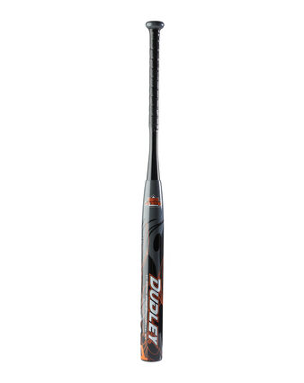 "Lightning Legend HOTW™ 14"" Barrel Senior Slowpitch Softball Bat - Black/Orange"
