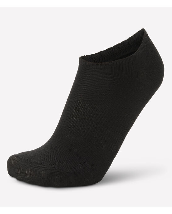 Women's 6 Pack No Show Socks Black BLACK