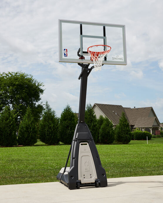 "The Beast® 60"" Glass Portable Basketball Hoop System"