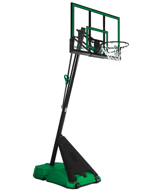"Hercules® Pro Glide Advanced® Portable Basketball Hoop System - 52"" Acrylic Green"