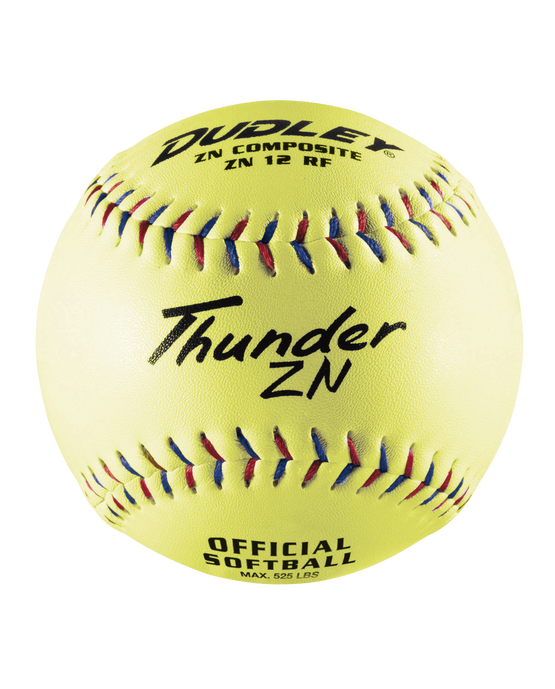 NON-ASSOCIATION THUNDER ZN SLOWPITCH SOFTBALL - 12 PACK