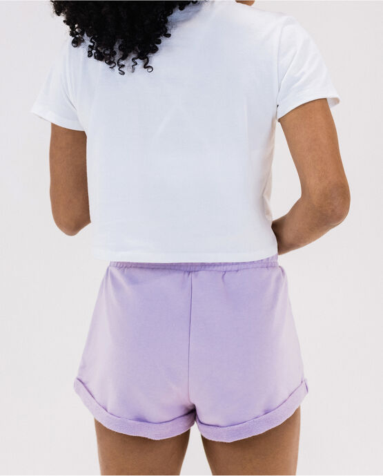 Women's French Terry Cuffed Short Blue Lilac Small BLUE LILAC