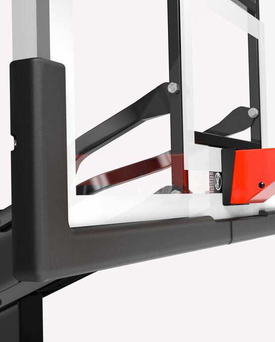 "Ultimate Hybrid® 54"" Glass Portable Basketball Hoop"