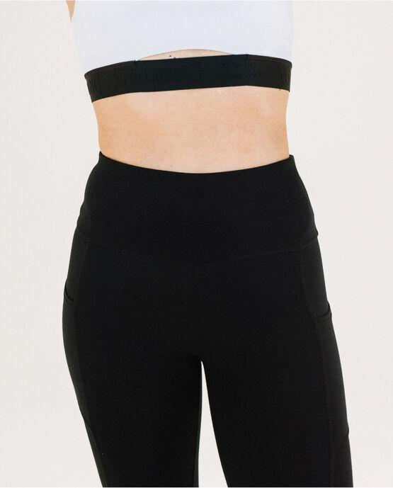 "Women's 19"" Capri Legging with Pockets Black Small BLACK"