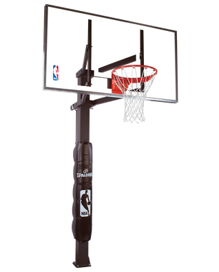 """888™"" Series Glass In-Ground Basketball Hoop"