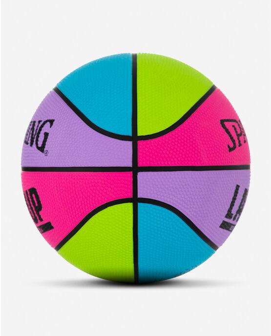 """Layup Mini Multi Color Rubber Outdoor Basketball 22"""" Multi Color"""