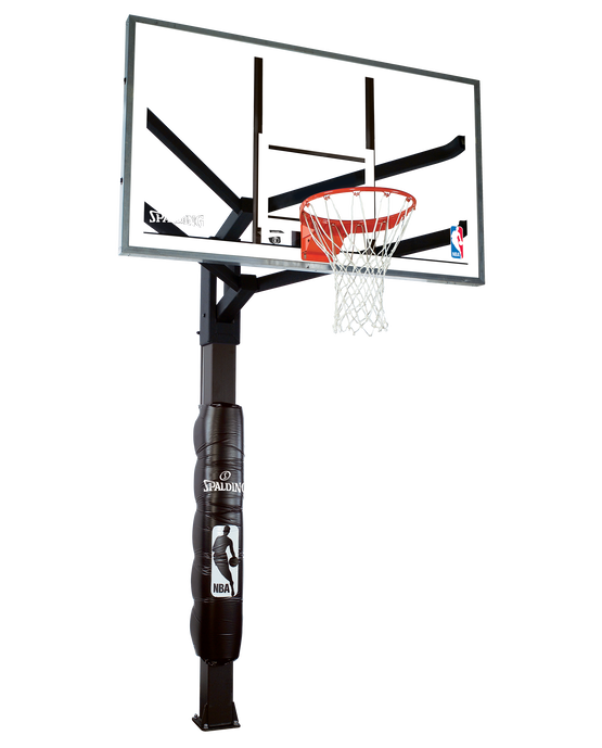 "60"" Glass Arena View® H Series In-Ground Basketball Hoop System"
