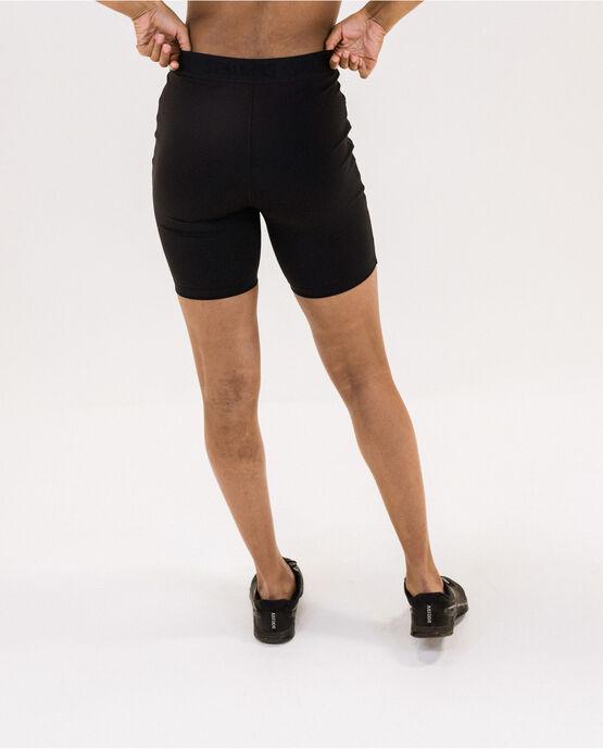 "Women's Logo Elastic 7"" biker short Black Medium BLACK"