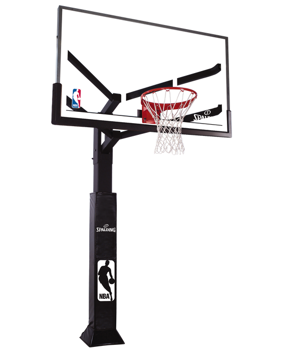 "72"" Glass Arena View® Series In-Ground Basketball Hoop System"