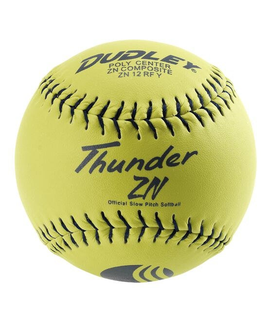 "12"" USSSA THUNDER ZN CLASSIC-M STAMP SLOWPITCH SOFTBALL - 12 PACK"