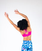 Women's Multi Strap Cross Back Sport Bra Magenta Large MAGENTA