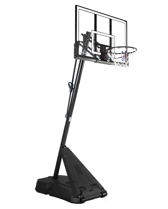 "Hercules® Pro Glide Advanced® Portable Basketball Hoop System - 52"" Acrylic Black"