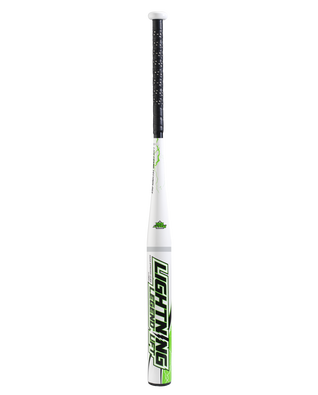 Lightning Legend Lift Senior Softball Bat - White/Green