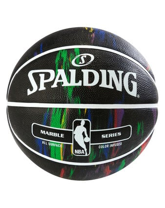 NBA Marble Series Black Multi-Color Youth Outdoor Basketball - 27.5""