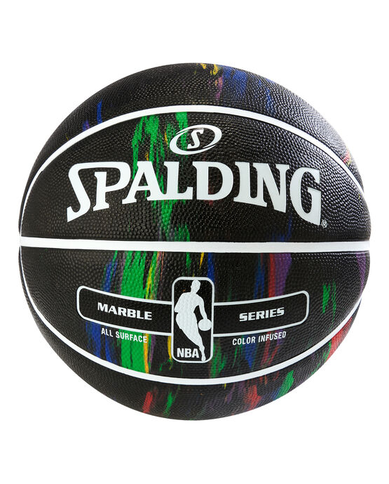 Spalding NBA Marble Series Black Multi-Color Outdoor Basketball - 29.5""
