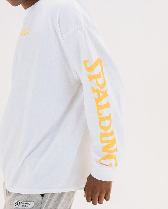 Men's Cotton Logo Long Sleeve T-Shirt  White Large WHITE