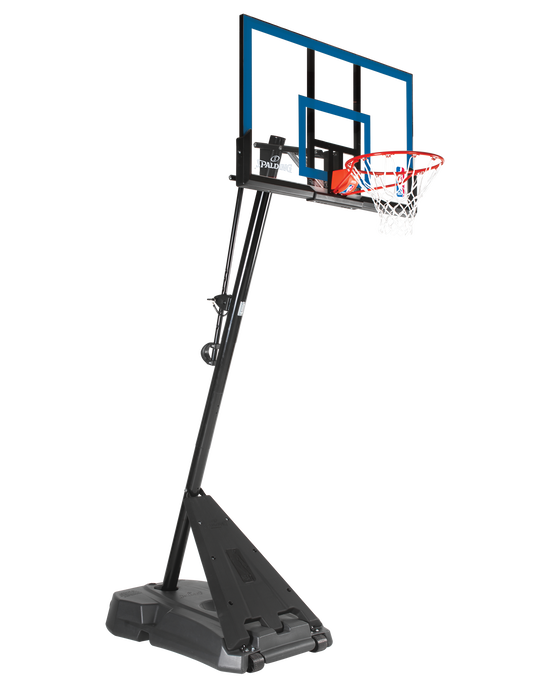 "Hercules® Exactaheight™ Portable Basketball Hoop System - 50"" Acrylic Black"