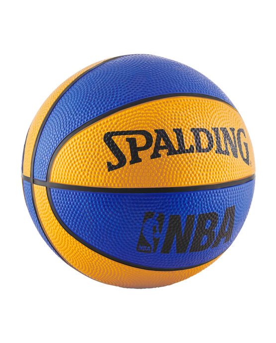 NBA Mini Blue and Orange Rubber Outdoor Basketball blue/orange