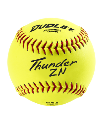 "12"" NON-ASSOCIATION THUNDER ZN SLOWPITCH SOFTBALL - 12 PACK"