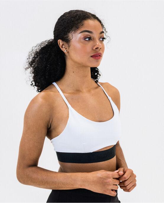 Women's Logo Bralette White Medium WHITE