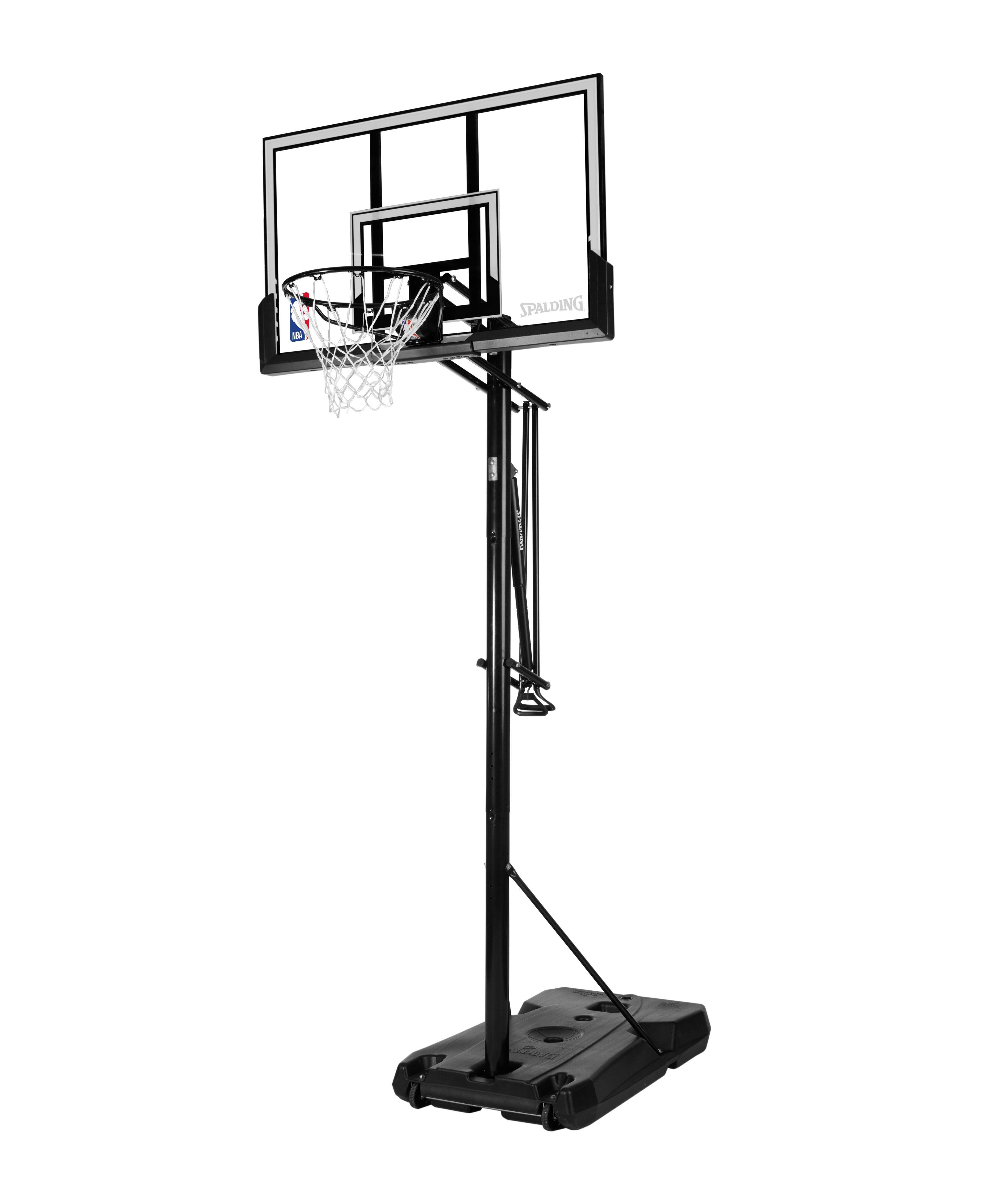 Spalding Portable Basketball Hoop Glass Acrylic Backboard Adjustable Outdoor Net