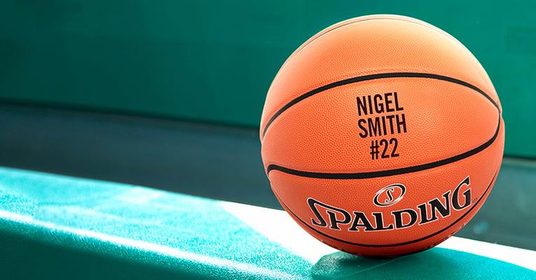Customize basketballs with text